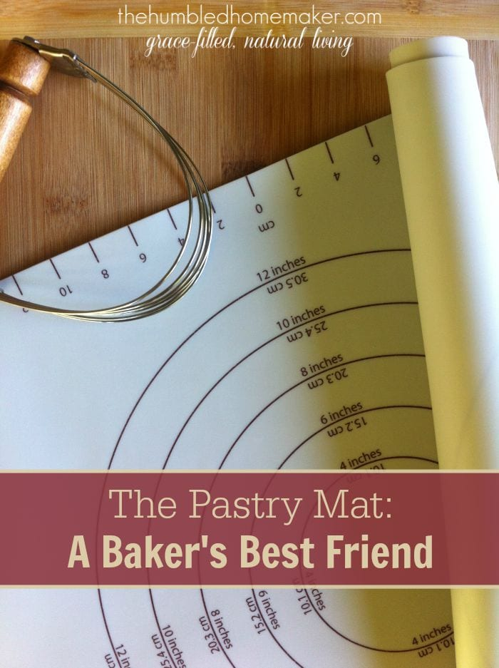 A silicone pastry mat simplifies and streamlines my baking routine. It provides a large work space for rolling out dough, and it's super easy to clean up!