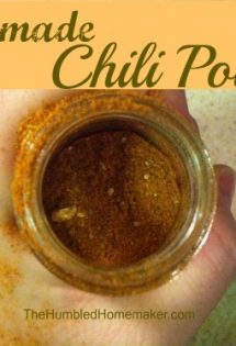 There's no need for the cost and fillers in store bought chili powder. The homemade chili powder recipe is easy, tasty, and frugal!