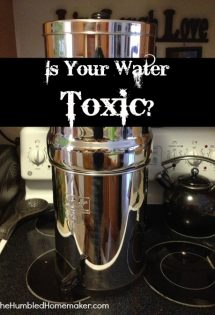 Is Your Water Toxic? {and a Royal Berkey Water Filter}
