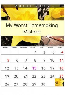 My Worst Homemaking Mistake {and 5 Ways I'm Working On It}