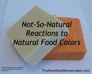 not so natural reactons to natural colors