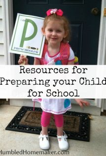 Resources to Prepare Your Child for School
