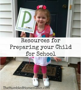 resources for preparing your child for school