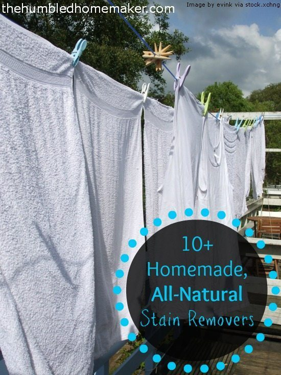 Here are some of the best homemade, all natural stain removers EVER! And the bes one is free!