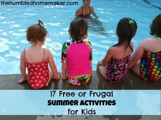 17 Free or Frugal Summer Activities for Kids at thehumbledhomemaker.com