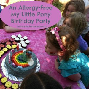 An Allergy-Free My Little Pony Birthday Party