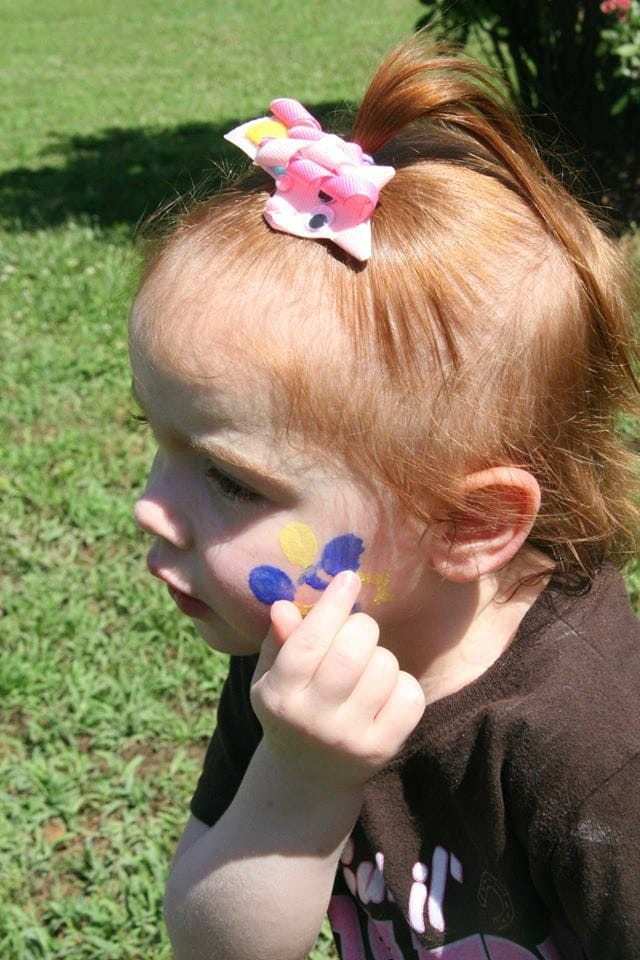 Cutie Mark Face Paint at My Little Pony Birthday Party
