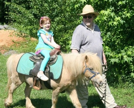 Pony Rides at a My Little Pony Birthday Party