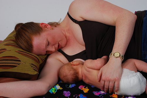 breastfeeding is restful