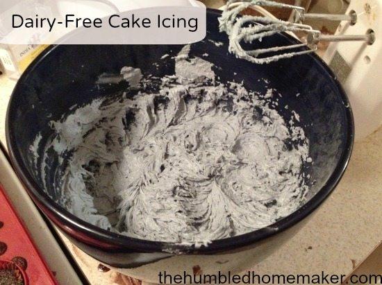 dairy-free cake icing