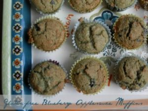 Here's a recipe for delicious gluten-free blueberry applesauce muffins, made with all nourishing ingredients.