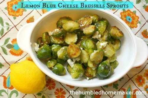 Lemon Blue Cheese Brussels Sprouts