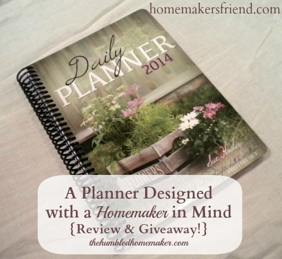 A Planner Designed with a Homemaker in Mind-Get it at homemakersfriend.com or read review at thehumbledhomemaker.com
