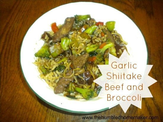 Garlic Shiitake Beef and Broccoli