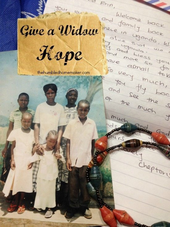 Give a Widow Hope- Hope 4 Women International's Unique Widow Sponsorship Ministry Equips Widows to Support their Families for Life!
