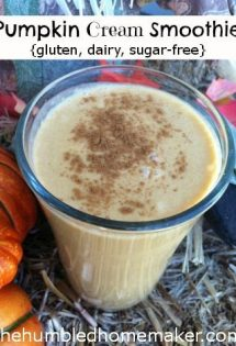 You will want to make this pumpkin cream smoothie every day! It's even gluten-free, dairy-free and sugar-free! Delicious!