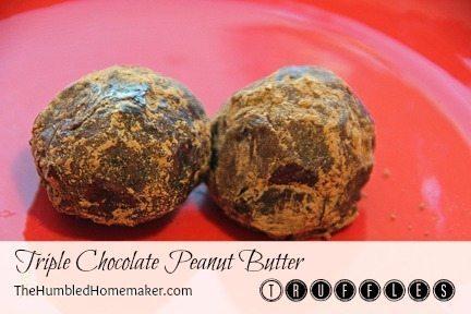 Triple-Chocolate-Peanut-Butter-Truffles-at-TheHumbledHomemaker.com_
