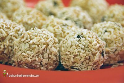 These Coconut Snowballs are some of our favorite healthier Christmas cookies!