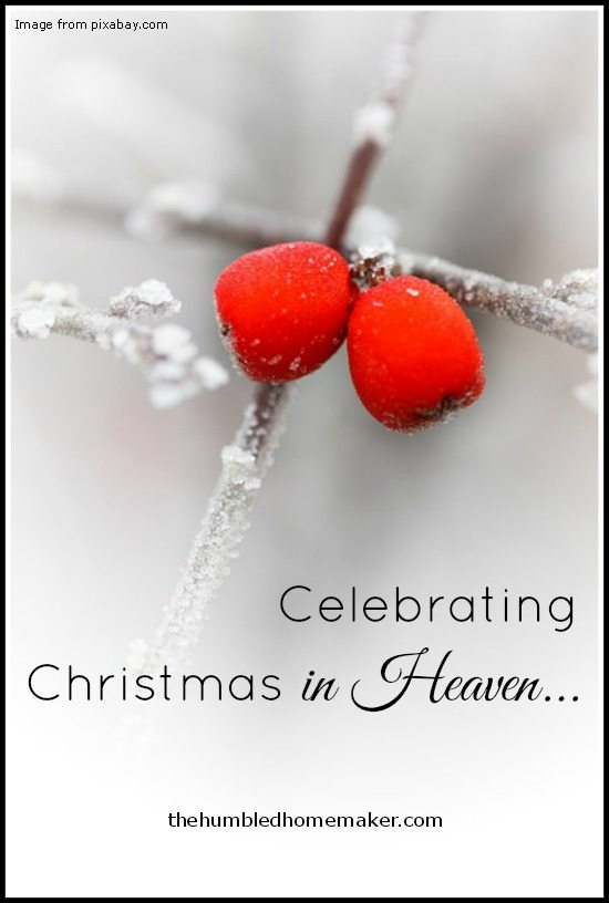 Celebrating Christmas in Heaven... - TheHumbledHomemaker.com