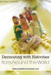 Decorating with Nativities from Around the World