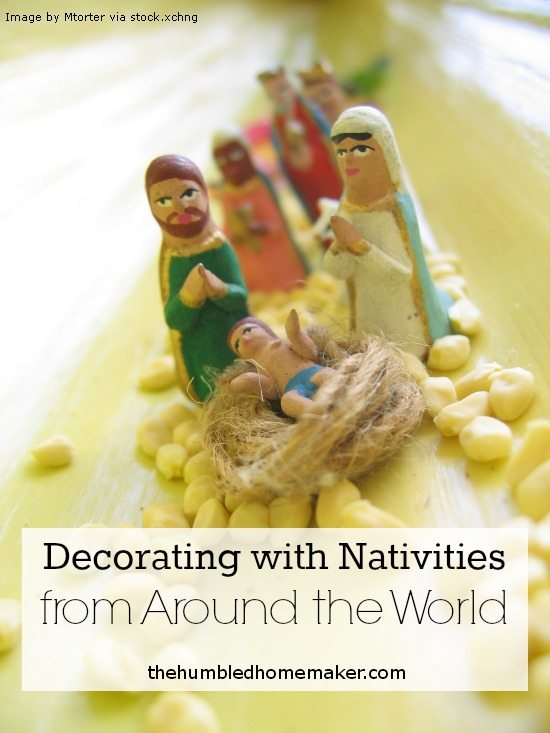 One of our favorite ways to decorate for Christmas is using nativities we've colored from around the world!
