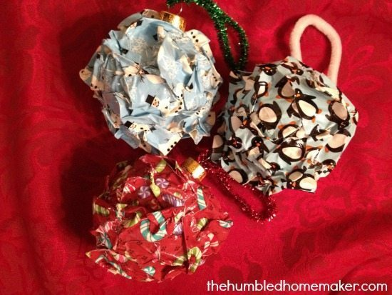 Duck Tape Christmas Ball Ornaments