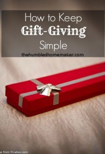 How to Keep Gift-Giving Simple