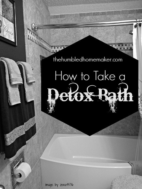 Post Holiday Detox! So Easy! How to Take a Detox Bath! http://thehumbledhomemaker.com