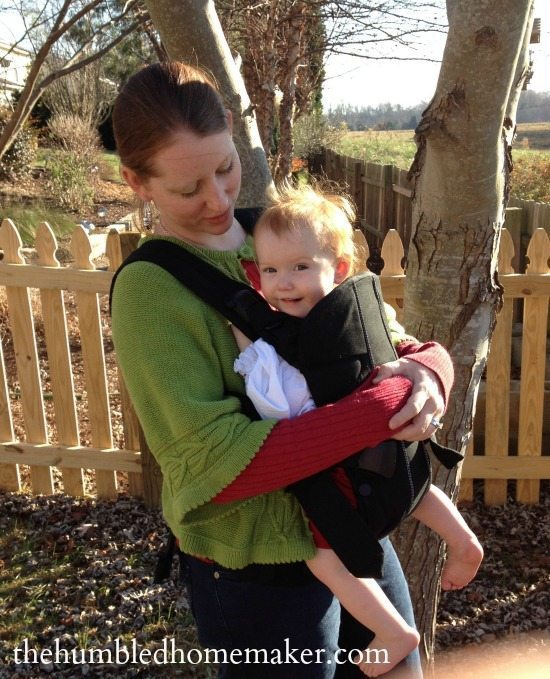 Loving the front hold in the Baby Bjorn Carrier