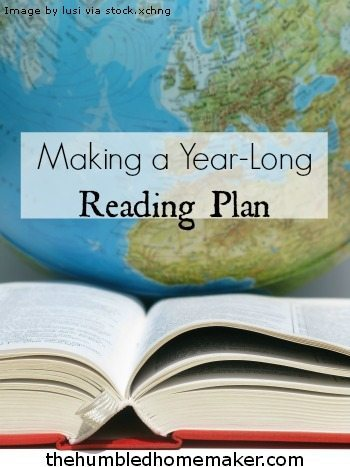 Making a Year-Long Reading Plan - TheHumbledHomemaker.com