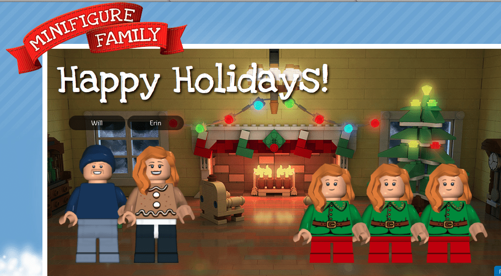 Create Your Own LEGO Mini Figure Family Holiday Card The Humbled
