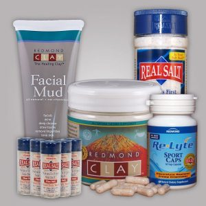 I love the products from Redmond Trading Company! I use the salt and clay to take detox baths.