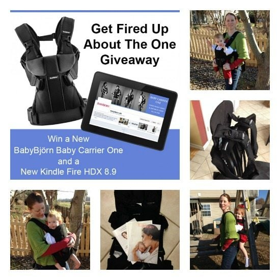 #ad Enter to #win a #BabyCarrierOne and Kindle Fire #giveaway from @BABYBJORNUS #OneIsAllYouNeed- (thehumbledhomemaker.com:babybjorn-review-and-giveaway) Perfect for the #holidays!