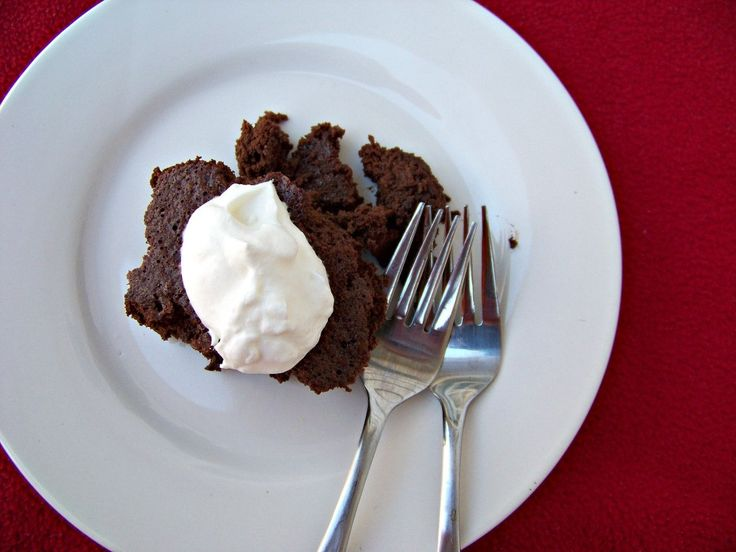 Dark Chocolate Flourless Pudding Cake