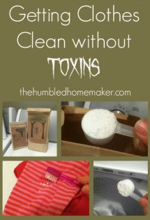 Getting Clothes Clean Without Toxins httpthehumbledhomemaker.com