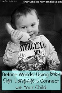 Before Words: Using Baby Sign Language to Connect with Your Child