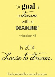 Choose to Dream in 2014