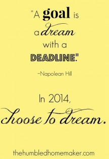 choose to dream | thehumbledhomemaker.com