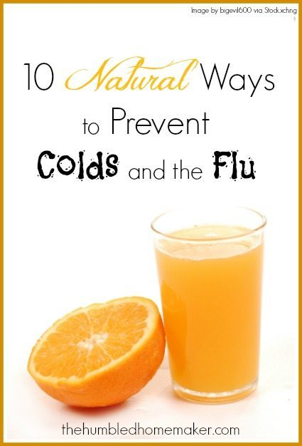 10 Natural Ways to Prevent Colds and the Flu - TheHumbledHomemaker.com