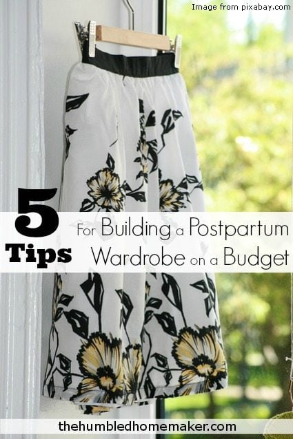 I so needed this! I don't want to wear maternity clothes forever! Postpartum wardrobe tips--and on budget to boot!