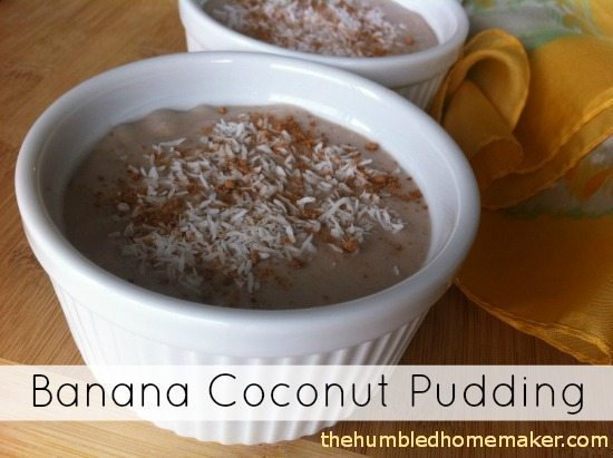 Banana Coconut Pudding Cups - TheHumbledHomemaker.com