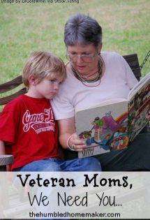 Veteran Moms, We Need You…