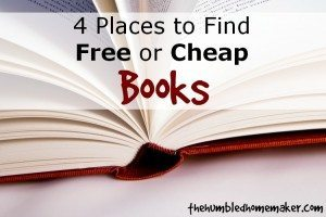 4 Places to Find Free or Cheap Books