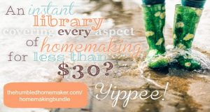 Get The Ultimate Homemaking Bundle for 1 week only!