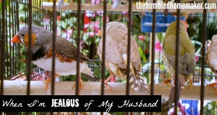 When I'm Jealous of My Husband - TheHumbledHomemaker.com