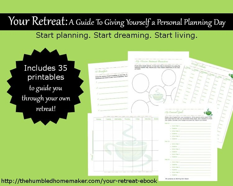 Give yourself a personal planning retreat with these planning sheets!