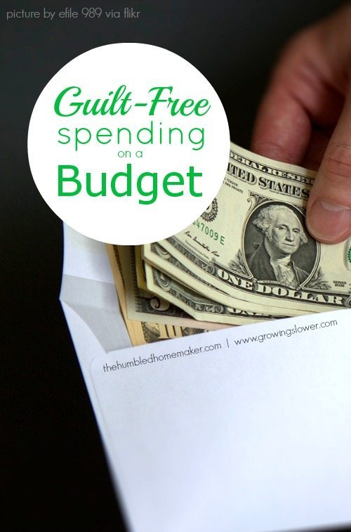 God has provided for our needs, and he does not want us to be constantly worried about money. Learning about guilt-free spending on a budget can be a lifesaver!