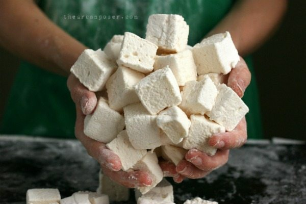 These homemade marshmallows are a great alternative to Peeps! Put a handful in a Ziploc bag and tuck into your child's Easter basket!