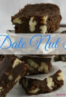 Easy Date Nut Fudge {Dairy, Soy and Refined Sugar Free}