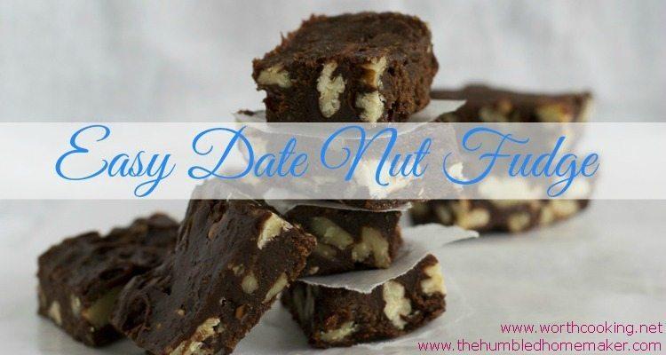 Allergen-Free Date Nut Fudge - TheHumbledHomemaker.com